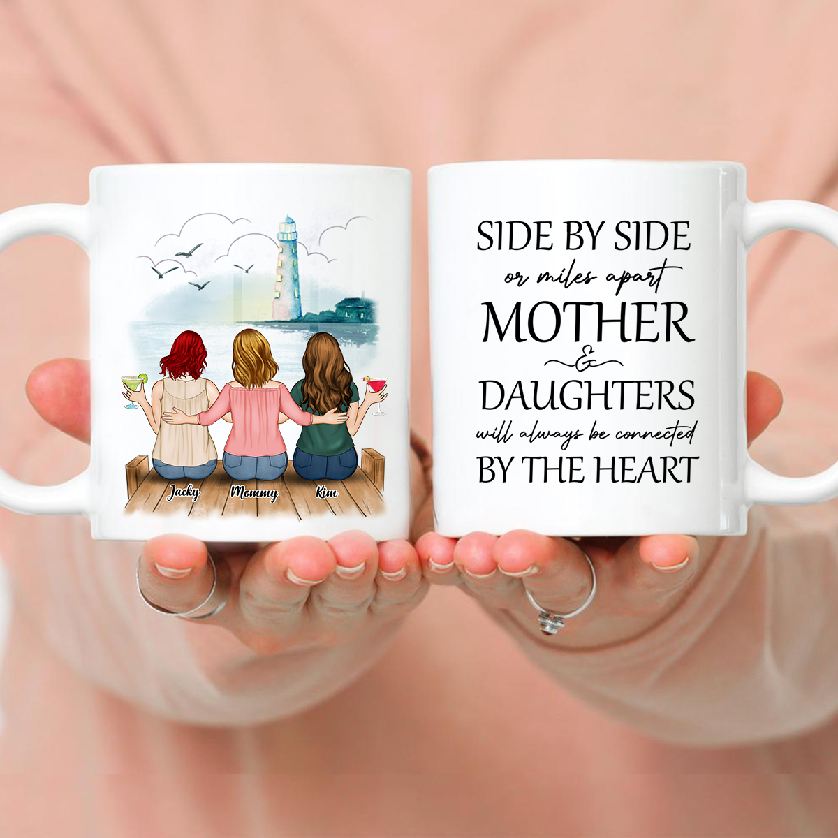 Up to 5 Mother and Daughters - Customized Background - Side by side or miles apart